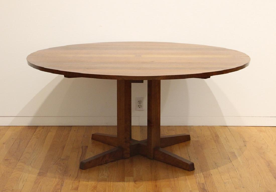 George Nakashima Round Cluster-Based Table