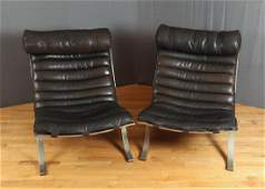 Pair Arne Norell Ari Lounge Chairs