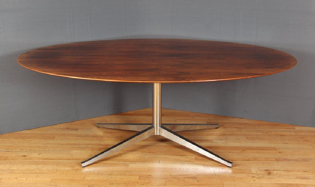 Florence Knoll Rosewood Dining Conference Table