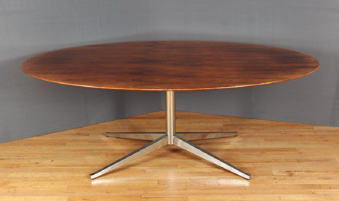 Florence Knoll Rosewood Dining Conference Table - 3
