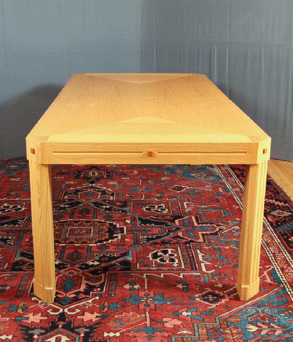 Herb Seigel designed red oak with inlays Dining Table