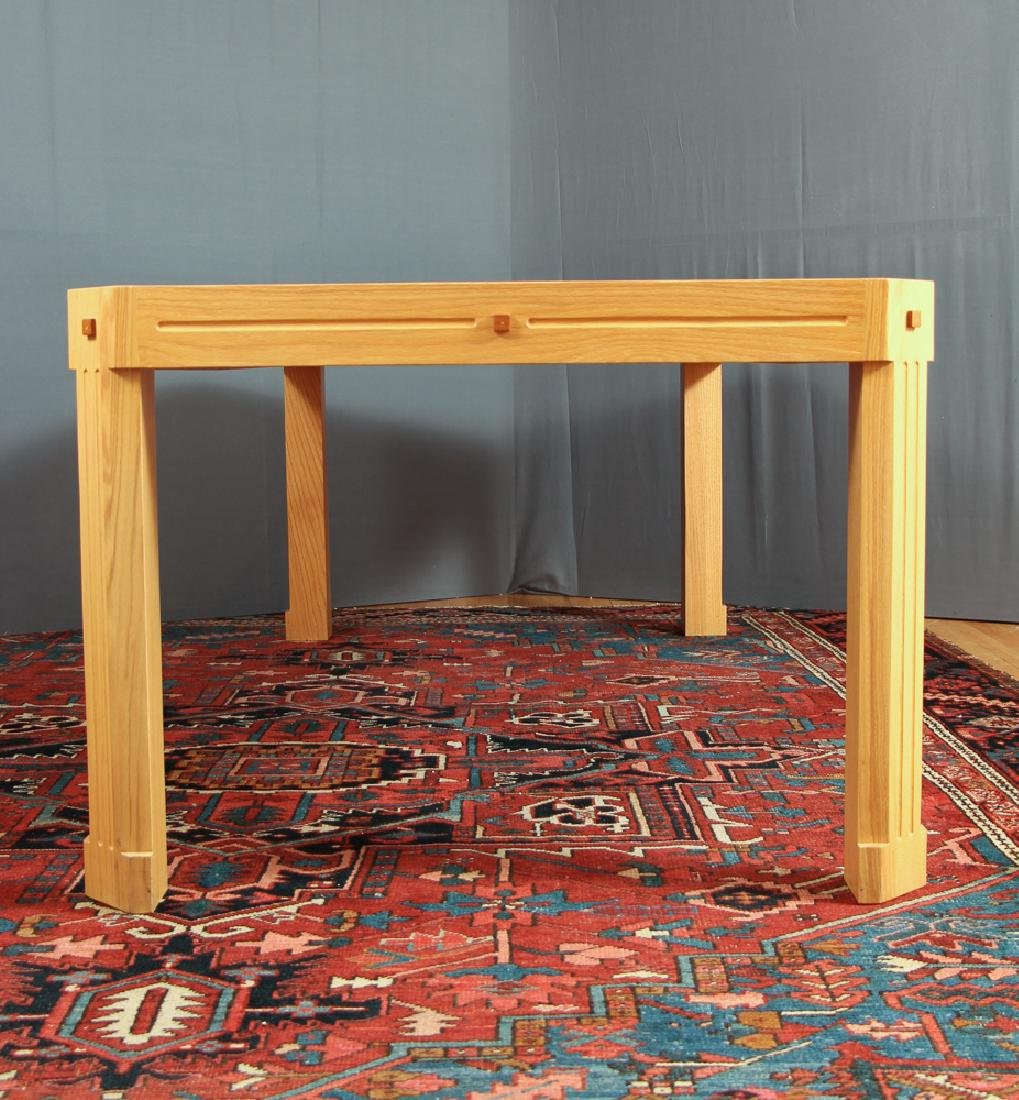 Herb Seigel designed red oak with inlays Dining Table - 2