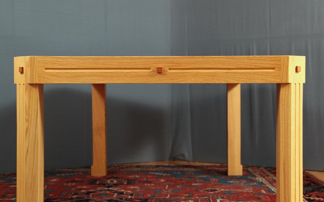 Herb Seigel designed red oak with inlays Dining Table - 3
