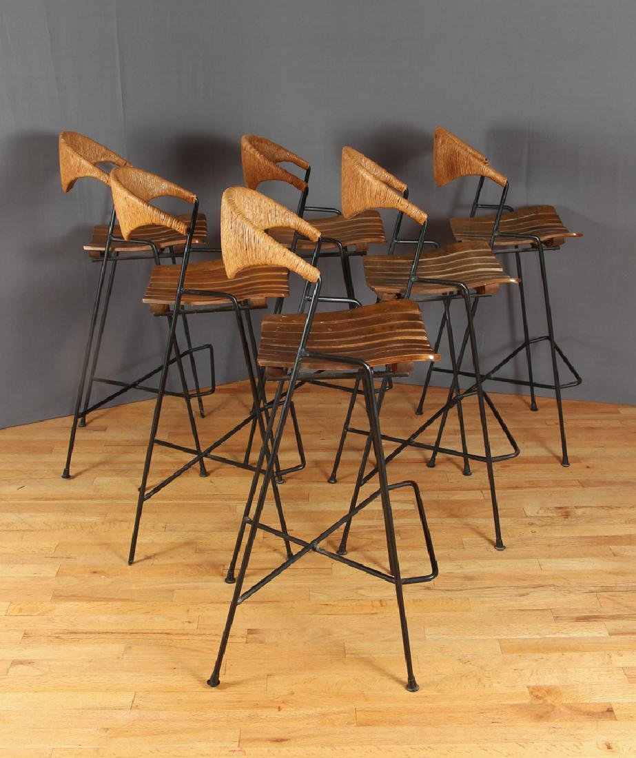 Set of Six Arthur Umanoff Bar Stools - 2