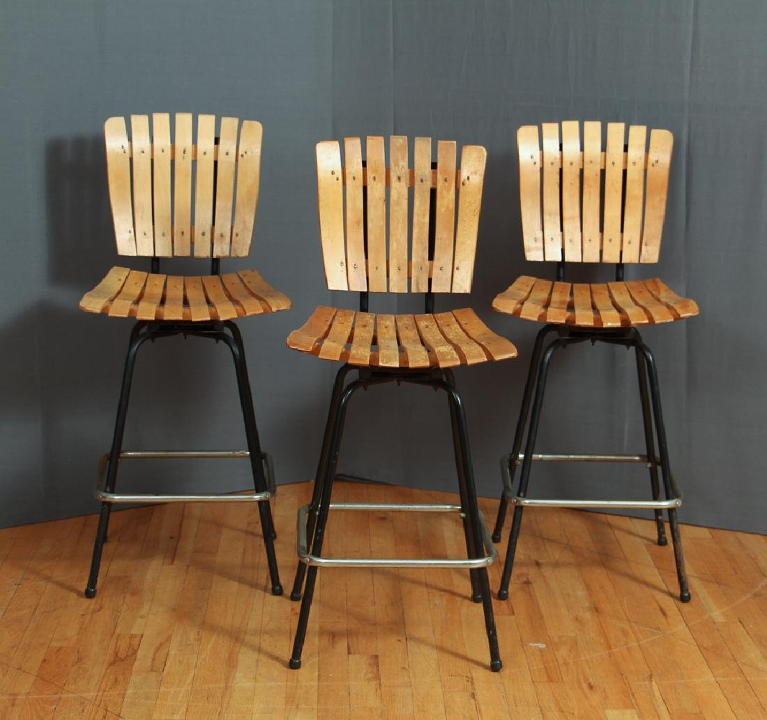 Three Arthur Umanoff Bar Stools