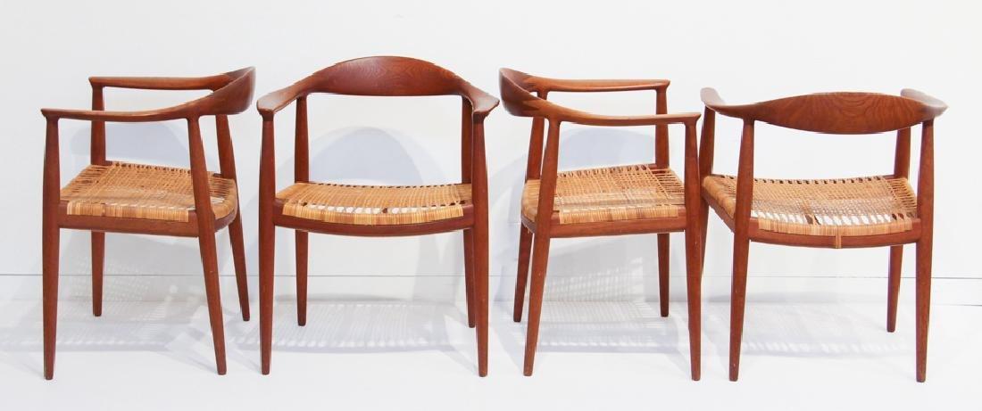 """4 Hans Wegner """"Round"""" Chairs by Johannes Hansen"""