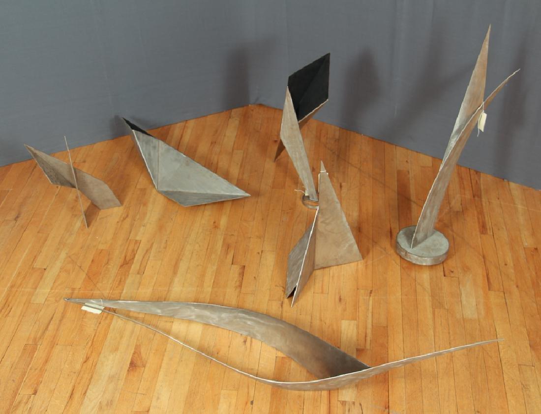 7 Stainless Steel Modernist Sculptures