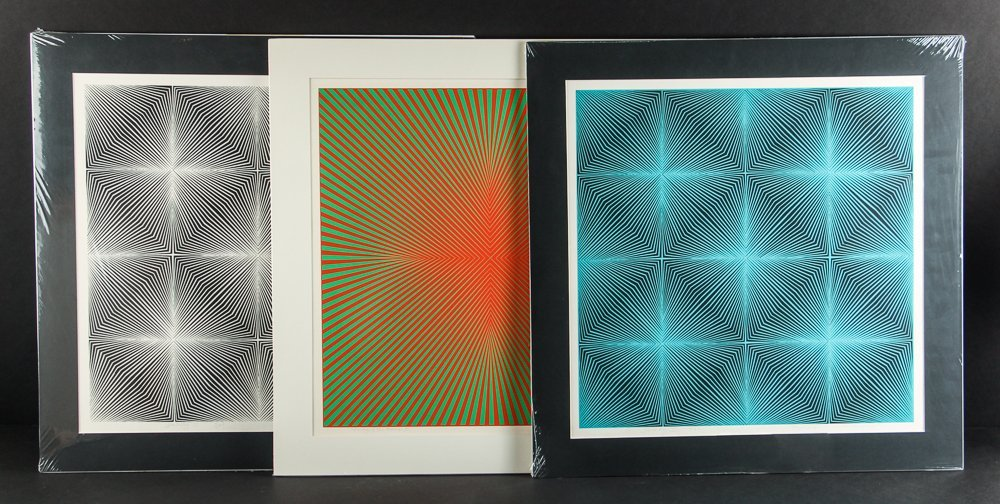 Three Roy Ahlgren Black and White and Color Screen