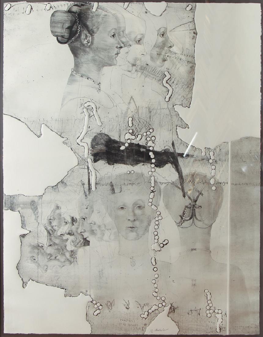 Jiri Anderle hybrid etching Fragment (Vox Humana)