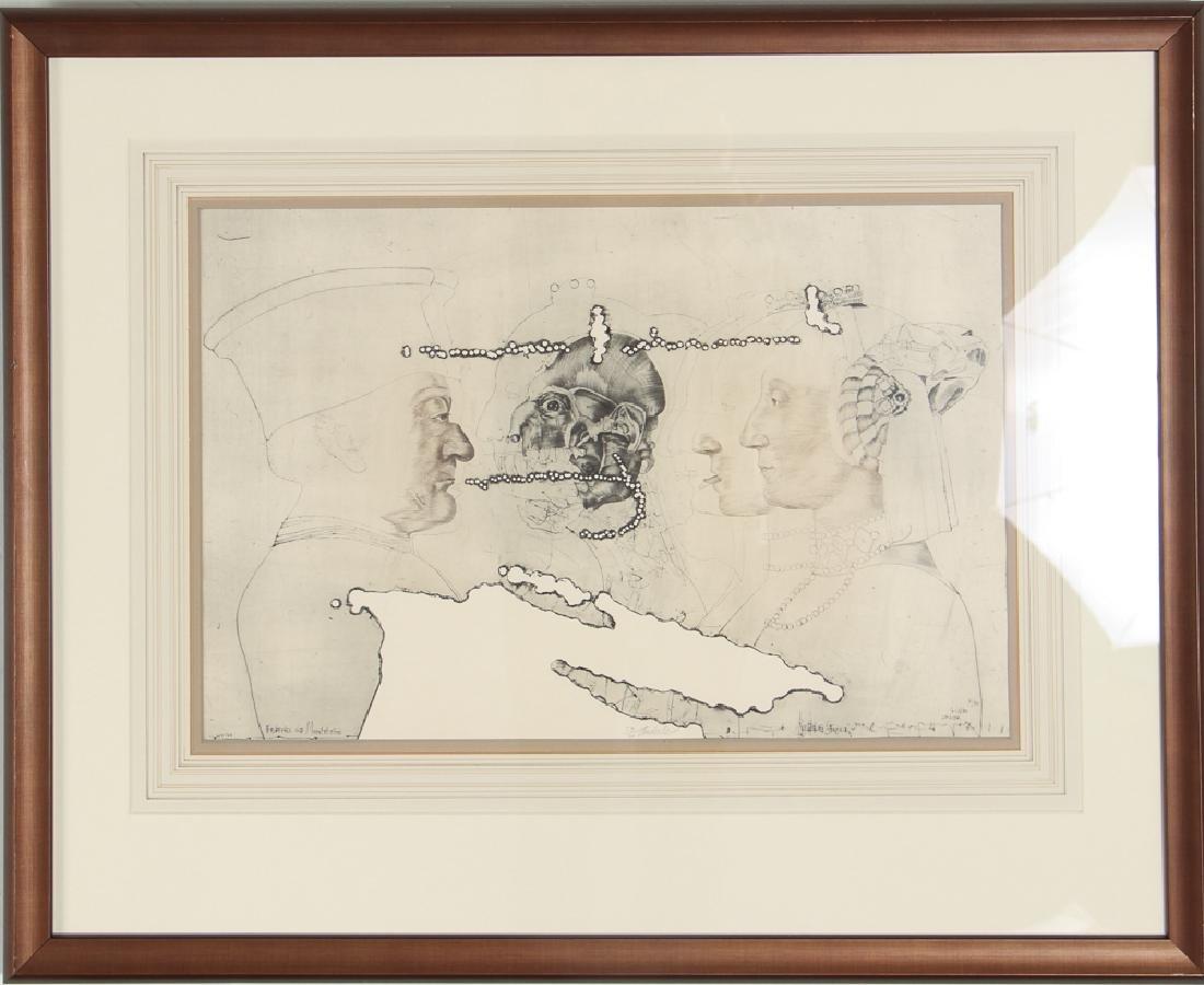 3 Jiri Anderle hybrid etchings Surreal Figural Images