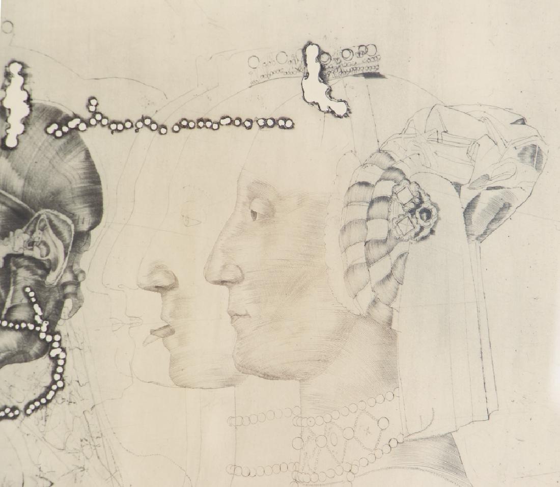 3 Jiri Anderle hybrid etchings Surreal Figural Images - 3
