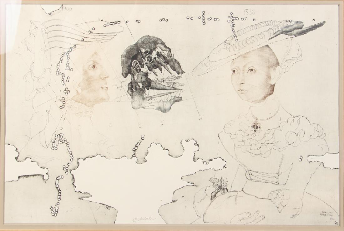 3 Jiri Anderle hybrid etchings Surreal Figural Images - 7