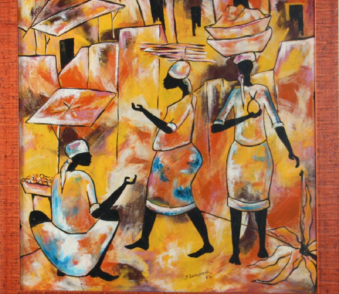 Paul Beauvoir Haitian Market Scene painting - 3