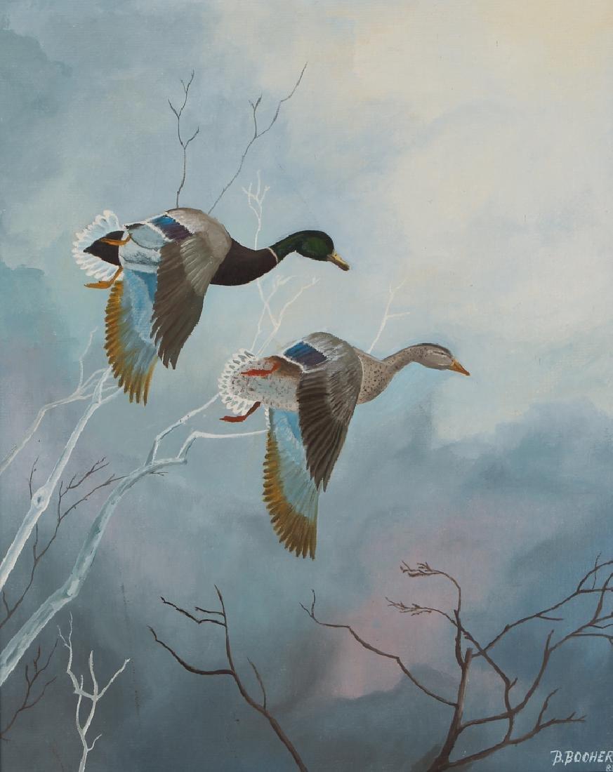 B. Booher 1981 ptg. Mallard's Flying