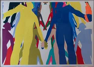 Jonathan Borofsky silkscreen Human Structure #2 , 2006