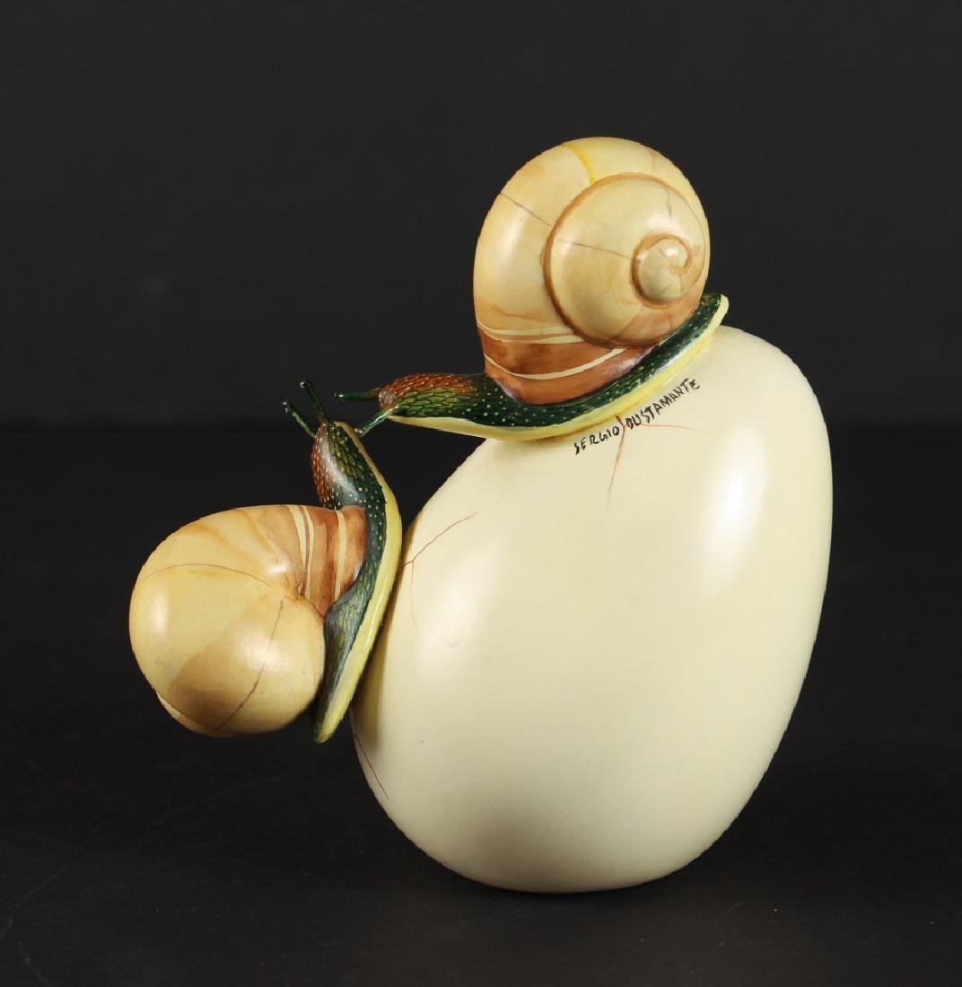 Sergio Bustamante Egg and Snail Sculpture