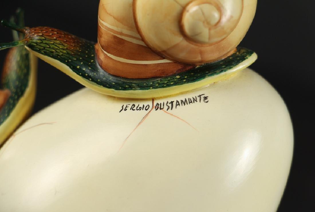 Sergio Bustamante Egg and Snail Sculpture - 5