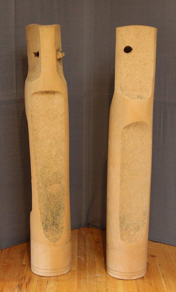 Jerry Caplan Ceramic Sculptures Abraham and Sarah - 2