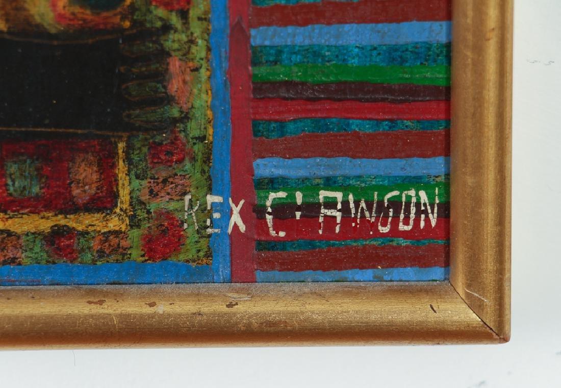 Rex Clawson Elephant Folk Art Painting - 2