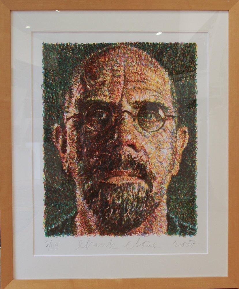 CHUCK CLOSE Self Portrait, Scribble, 2007,  lithograph