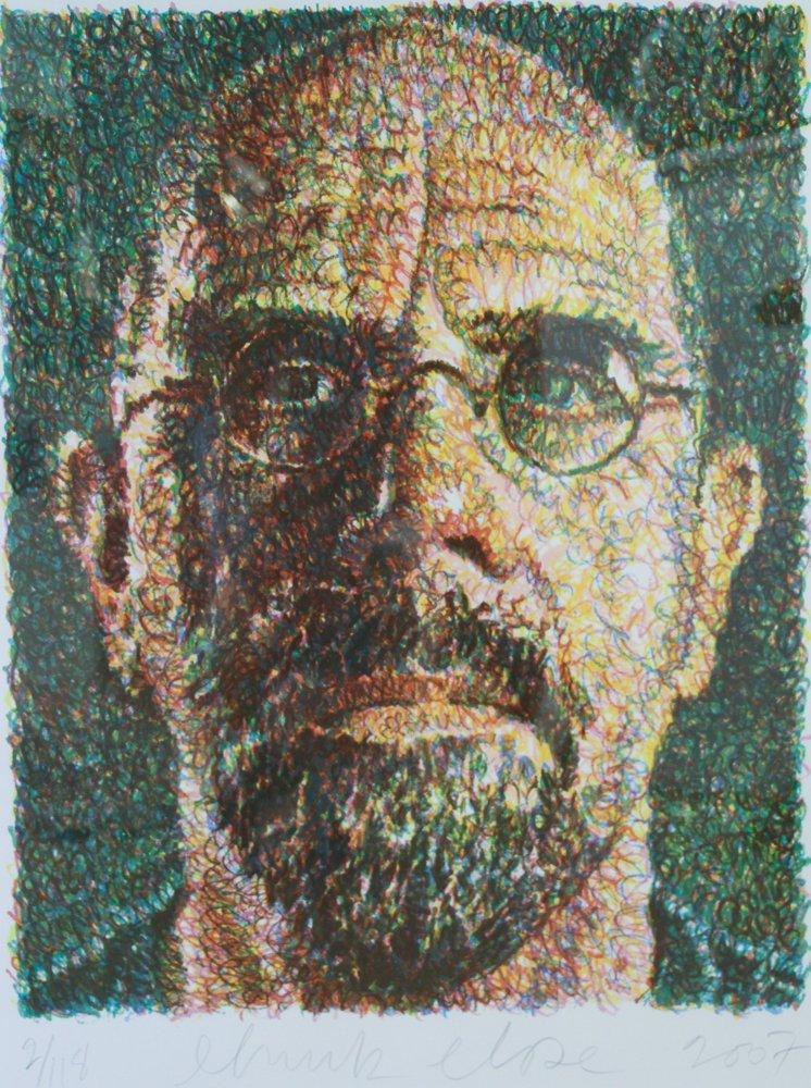 CHUCK CLOSE Self Portrait, Scribble, 2007,  lithograph - 2