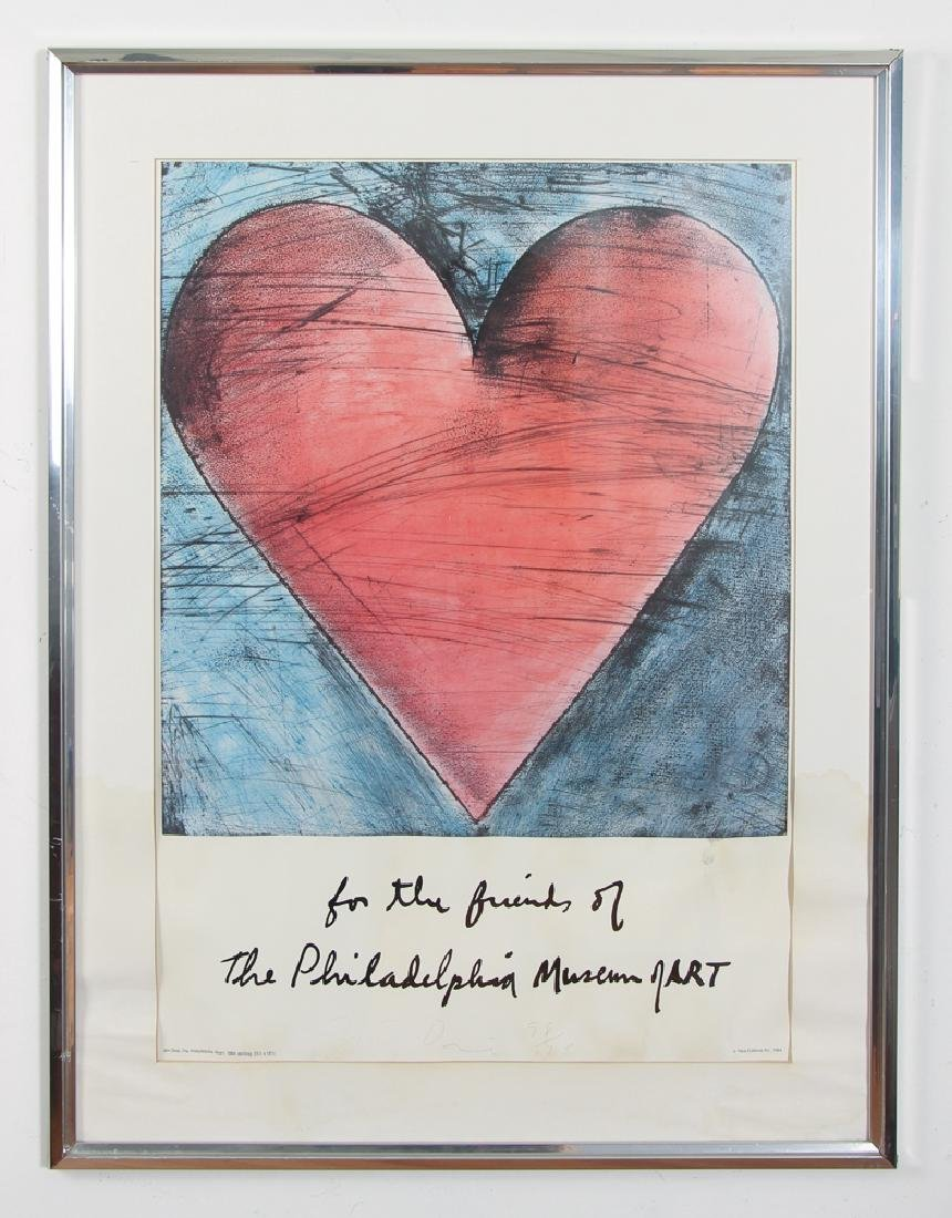 Jim Dine 1984 poster signed and numbered
