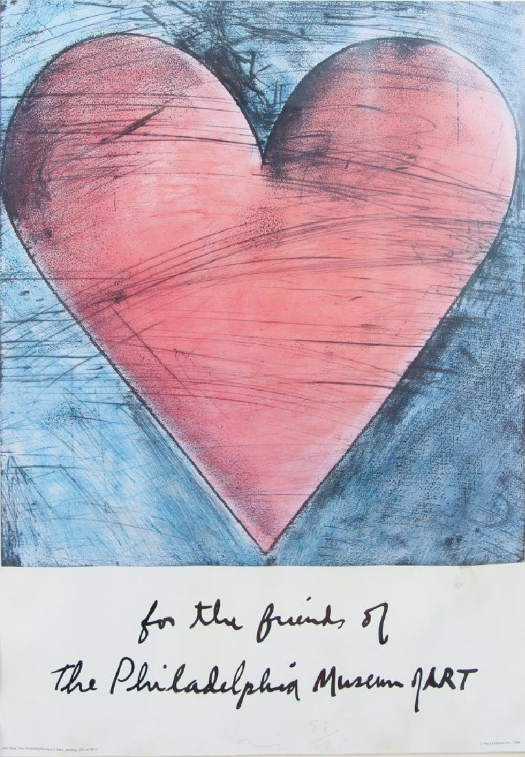 Jim Dine 1984 poster signed and numbered - 2
