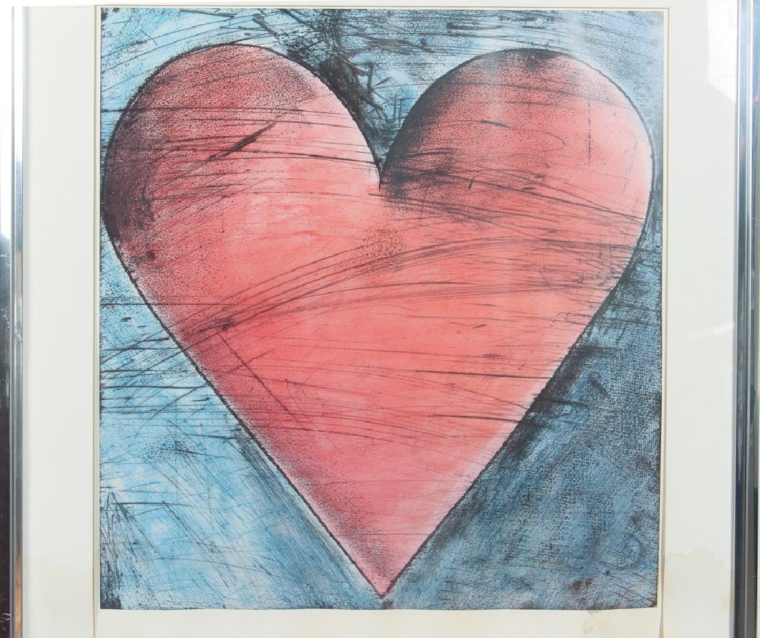 Jim Dine 1984 poster signed and numbered - 4