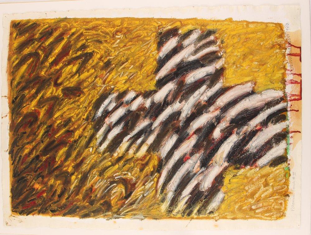 John Edwards (British) Untitled ptg. On paper 1980