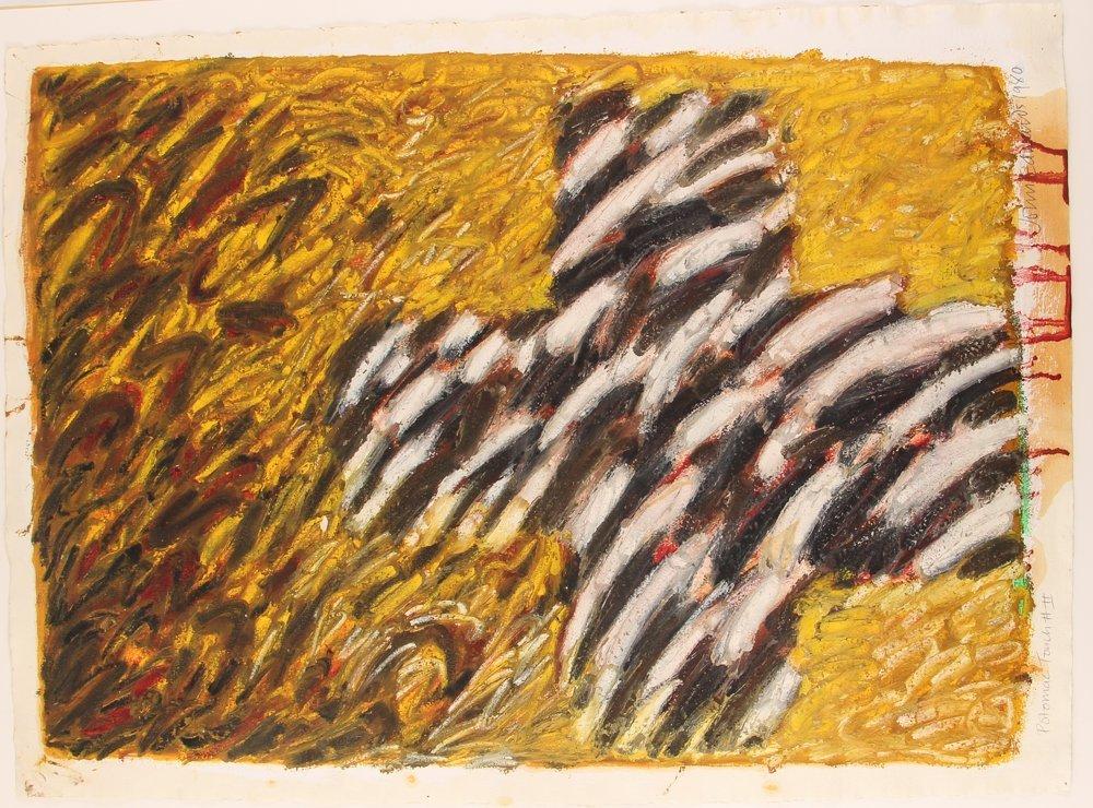 John Edwards (British) Untitled ptg. On paper 1980 - 2