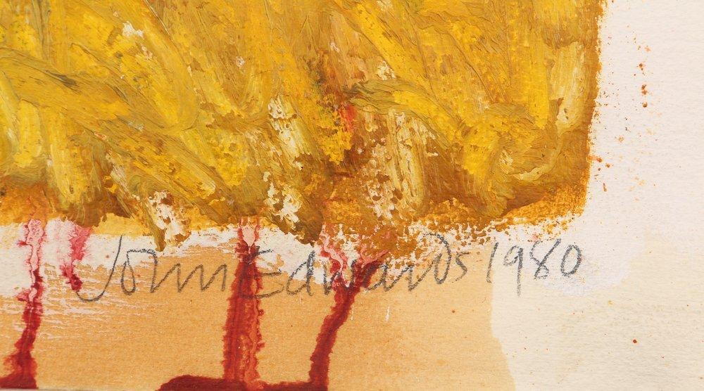 John Edwards (British) Untitled ptg. On paper 1980 - 3