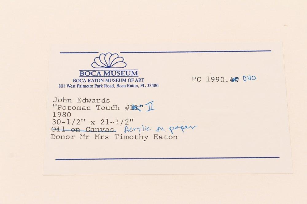 John Edwards (British) Untitled ptg. On paper 1980 - 9