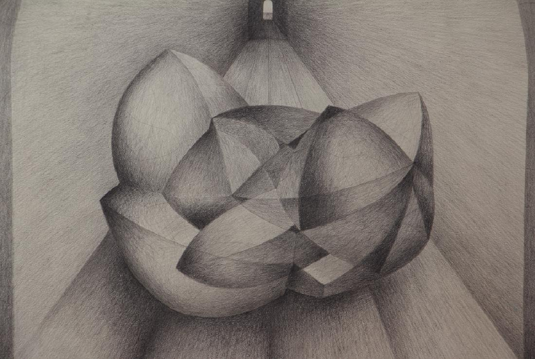 Erwin Kalla Abstract Form in Tunnel Drawing - 2