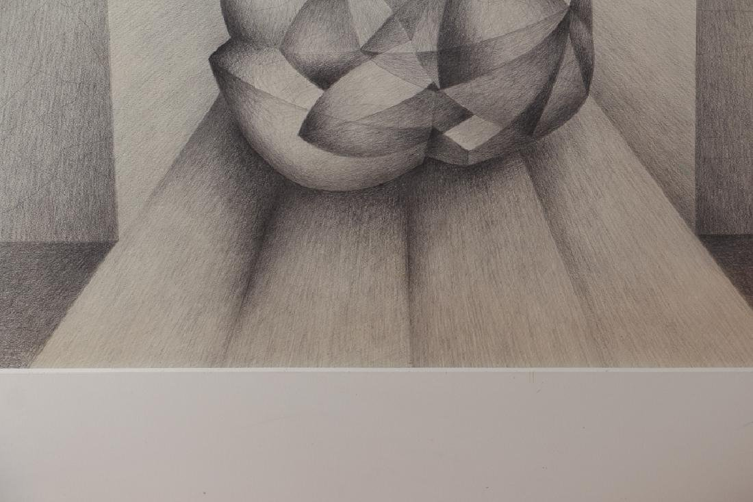 Erwin Kalla Abstract Form in Tunnel Drawing - 3