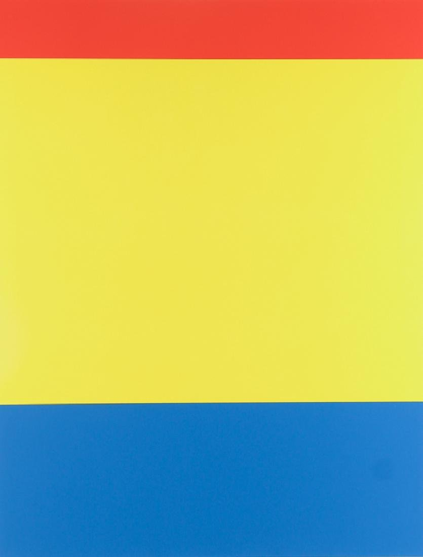 Ellsworth Kelly 3 color litho Red Yellow Blue , 2000