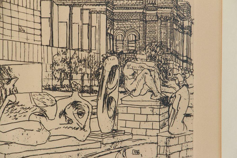 Two Henry Koerner Prints Carnegie & Park Building - 10