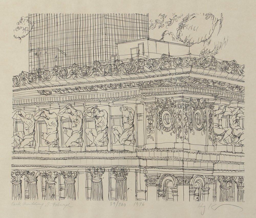 Two Henry Koerner Prints Carnegie & Park Building