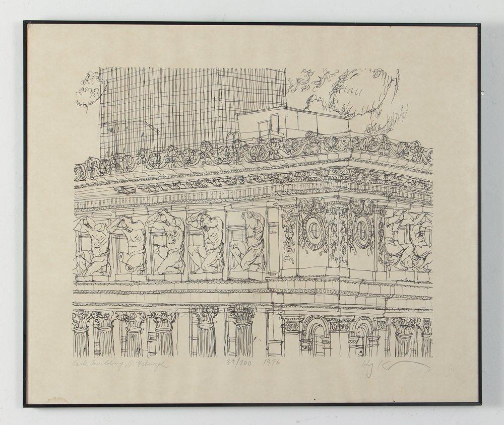 Two Henry Koerner Prints Carnegie & Park Building - 2