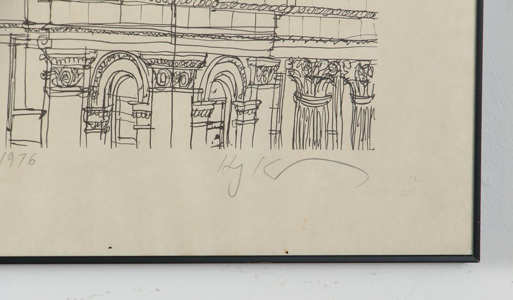 Two Henry Koerner Prints Carnegie & Park Building - 3