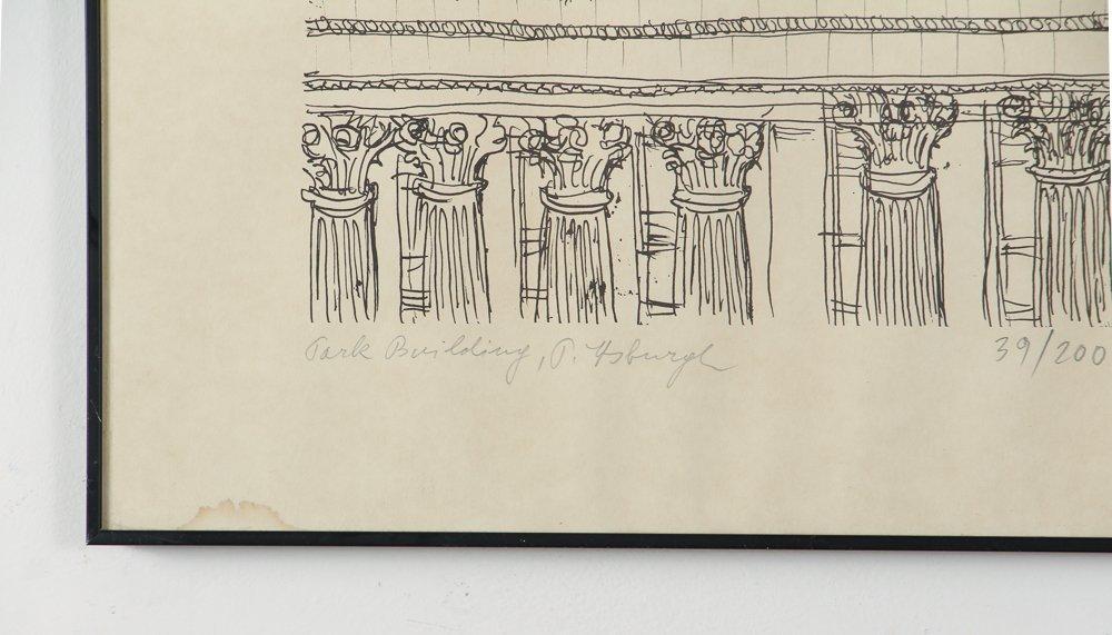 Two Henry Koerner Prints Carnegie & Park Building - 4
