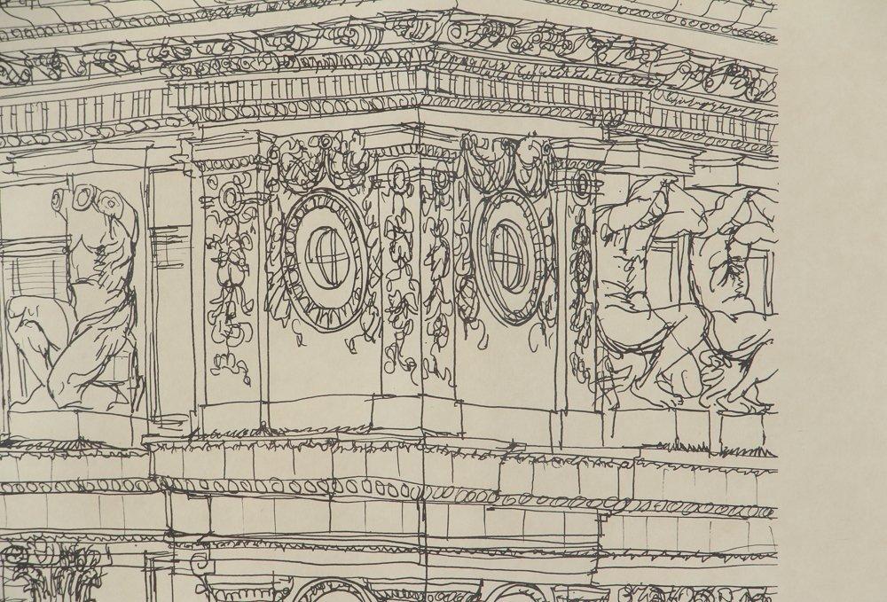 Two Henry Koerner Prints Carnegie & Park Building - 5