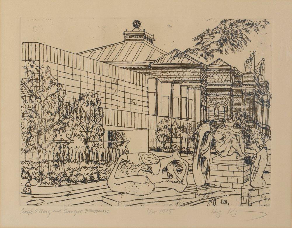 Two Henry Koerner Prints Carnegie & Park Building - 6