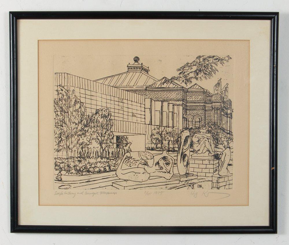 Two Henry Koerner Prints Carnegie & Park Building - 7