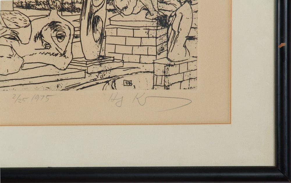 Two Henry Koerner Prints Carnegie & Park Building - 8