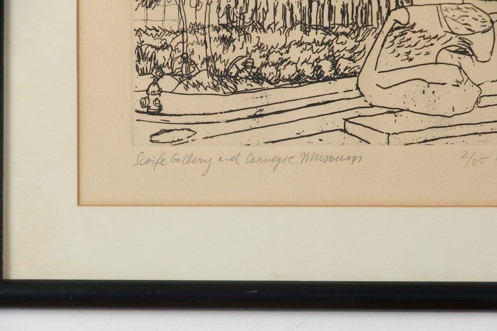 Two Henry Koerner Prints Carnegie & Park Building - 9