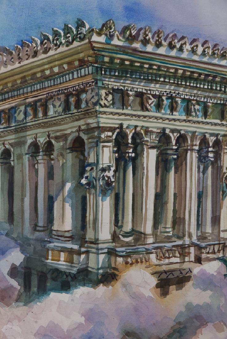 Henry Koerner 1984 watercolor Arrott Building - 3