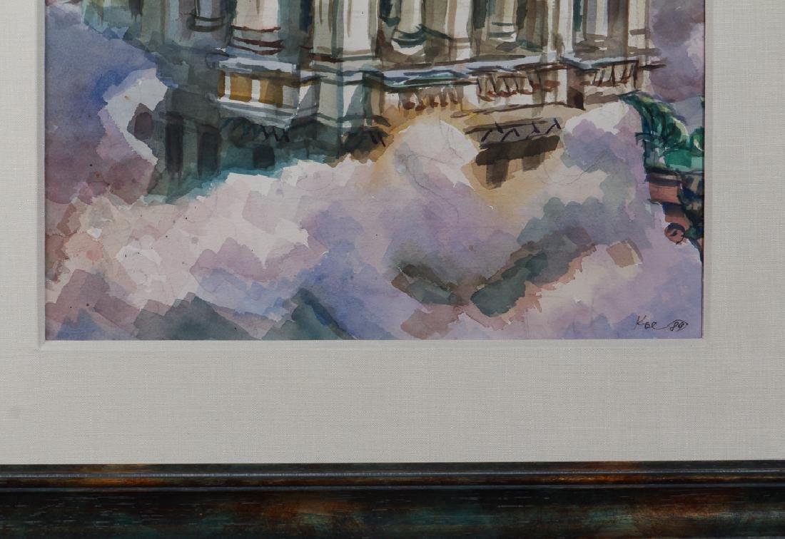 Henry Koerner 1984 watercolor Arrott Building - 4