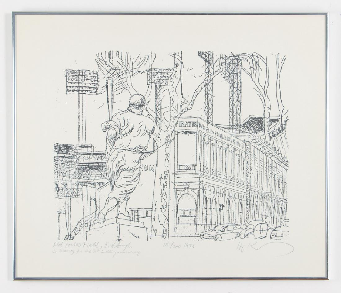 Two Henry Koerner Pittsburgh Themed Lithographs