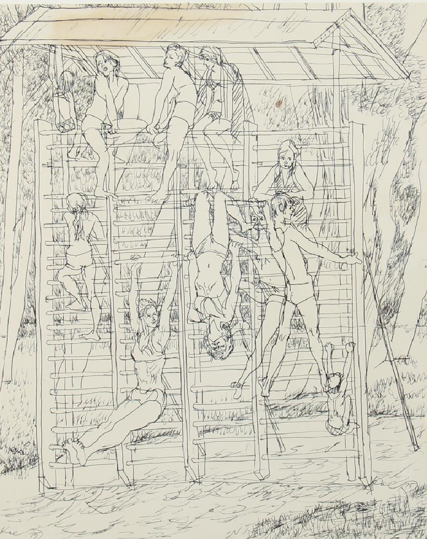 Henry Koerner Acrobats Drawing