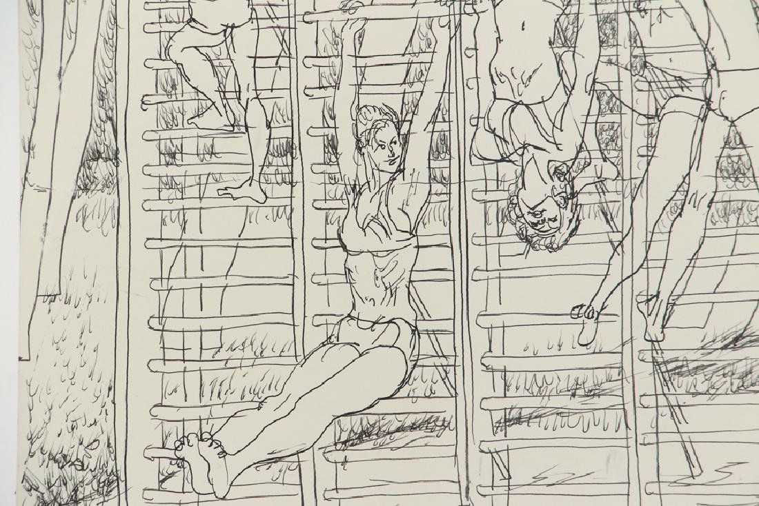 Henry Koerner Acrobats Drawing - 3